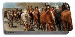 Portable Battery Charger featuring the photograph Great American Horse Drive by Brenda Jacobs