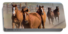 Great American Horse Drive - Coming Into The Corrals Portable Battery Charger