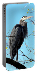 Portable Battery Charger featuring the photograph Great Blue Heron 001 by Chris Mercer