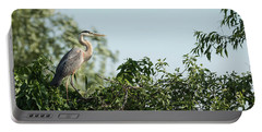 Great Blue Heron  2015-18 Portable Battery Charger by Thomas Young