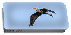 Great Blue Heron 2017-5 Portable Battery Charger by Thomas Young