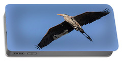 Great Blue Heron 2017-6 Portable Battery Charger by Thomas Young