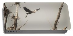 Portable Battery Charger featuring the photograph Great Blue Heron - 6 by David Bearden