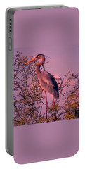 Great Blue Heron - Artistic 6 Portable Battery Charger
