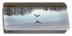 Great Blue Heron At Take-off Portable Battery Charger by Jennifer Nelson