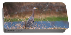 Portable Battery Charger featuring the photograph Great Blue Heron By The River by Sharon Talson