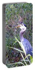Great Blue Heron Eating A Fish Portable Battery Charger