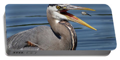 Great Blue Heron Feast Portable Battery Charger