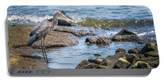 Great Blue Heron Fishing On The Chesapeake Bay Portable Battery Charger