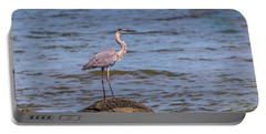Great Blue Heron Gaze Portable Battery Charger