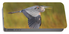 Great Blue Heron In Flight Portable Battery Charger