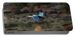 Great Blue Heron In Flight II Portable Battery Charger