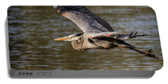 Great Blue Heron In Stratford Portable Battery Charger