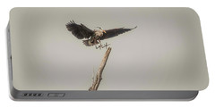 Portable Battery Charger featuring the photograph Great Blue Heron Landing by David Bearden