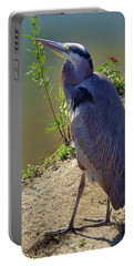 Portable Battery Charger featuring the photograph Great Blue Heron by Mariola Bitner