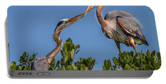 Great Blue Heron Nest Building Portable Battery Charger