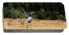 Portable Battery Charger featuring the photograph Great Blue Heron On Beach by Sheila Brown