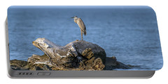 Great Blue Heron On Chesapeake Bay Portable Battery Charger