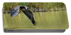 Great Blue Heron On The Wing Portable Battery Charger