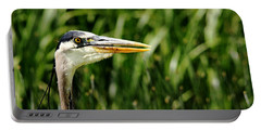 Portable Battery Charger featuring the photograph Great Blue Heron Portrait by Debbie Oppermann