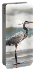 Great Blue Heron Profile Portable Battery Charger