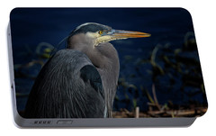 Portable Battery Charger featuring the photograph Great Blue Heron by Randy Hall