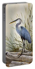 Great Blue Heron Shore Portable Battery Charger