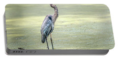 Great Blue Heron Standing In A Marsh Portable Battery Charger