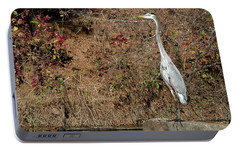 Portable Battery Charger featuring the photograph Great Blue Heron Standing Tall by George Randy Bass