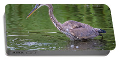 Great Blue Heron - The One That Got Away Portable Battery Charger