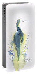 Blue Heron Turning Portable Battery Charger