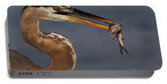 Great Blue Heron W/catfish Portable Battery Charger