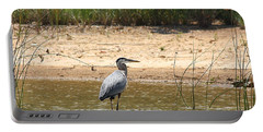 Portable Battery Charger featuring the photograph Great Blue Heron Wading by Sheila Brown