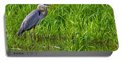 Great Blue Heron Waiting Portable Battery Charger
