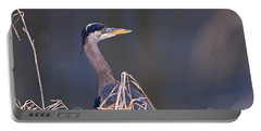 Portable Battery Charger featuring the photograph Great Blue Heron Waiting by Sharon Talson