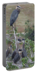 Great Blue Heron Watching Over Nest Portable Battery Charger