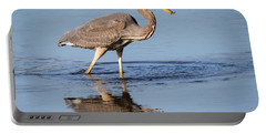 Great Blue Heron With A Small Meal Portable Battery Charger