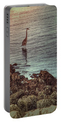 Great Blue Hunting At Dusk Portable Battery Charger