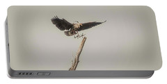 Portable Battery Charger featuring the photograph Great Blue Landing by David Bearden