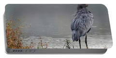 Great Blue Heron Landscape Portable Battery Charger