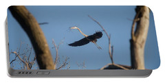 Portable Battery Charger featuring the photograph Great Blues Nesting by David Bearden