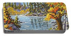 Great Canadian Lake  - Large Original Oil Painting Portable Battery Charger
