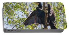 Great Cormorant - High In The Tree Portable Battery Charger by Jivko Nakev