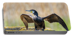 Great Cormorant - Phalacrocorax Carbo Portable Battery Charger by Jivko Nakev