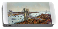 Great East River Suspension Bridge 1892 Portable Battery Charger