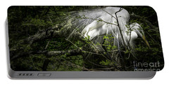 Great Egret #2 Portable Battery Charger