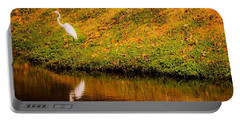 Great Egret At The Lake Portable Battery Charger