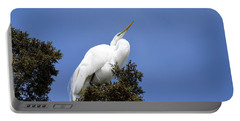 Great Egret Portable Battery Charger by Gary Wightman