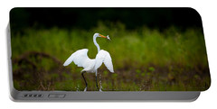 Great Egret, Great Fisherman Portable Battery Charger