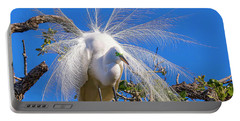 Great Egret In Breeding Plumage Portable Battery Charger